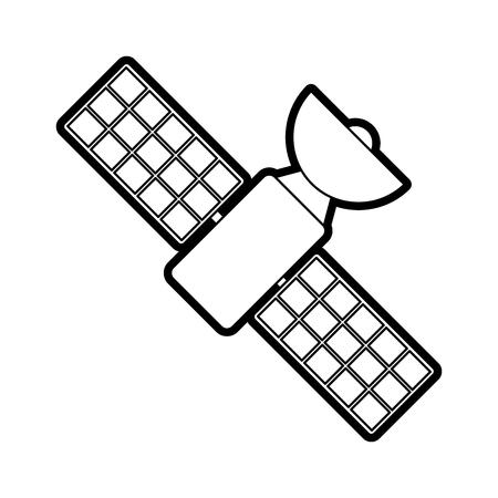 Satelliet transmissie telecommunicatie pictogram afbeelding vector illustratie tekenen Stockfoto - 82701647