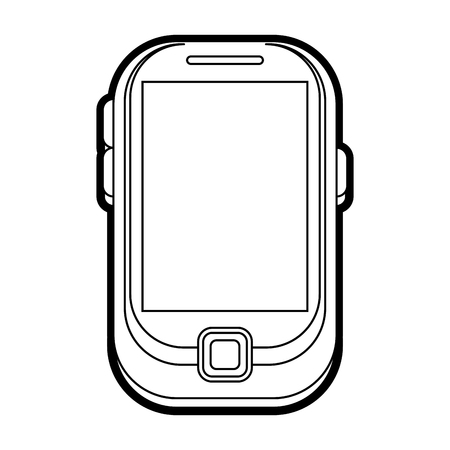 wireless: blank screen cellphone icon image vector illustration draw