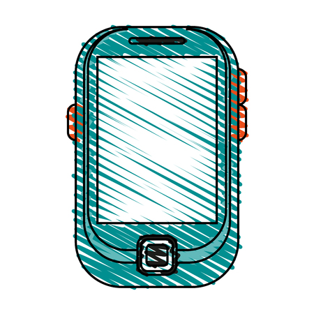 responsive: blank screen cellphone icon image vector illustration scrawl Illustration