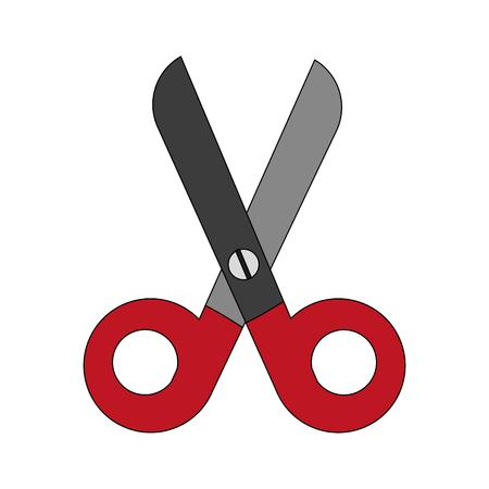 colorful scissors cartoon vector illustration graphic design Illustration