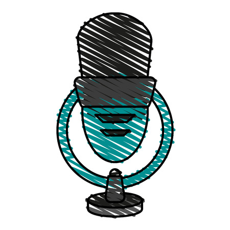 isolated  microphone icon vector illustration graphic design Illustration