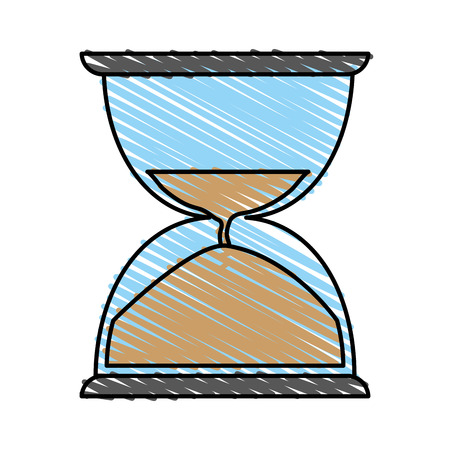 checking: sand hourglass icon vector illustration graphic design Illustration