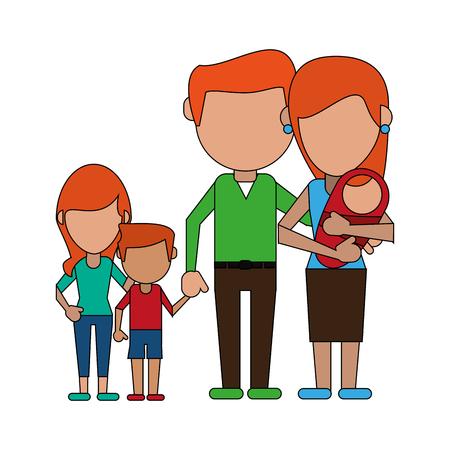 lovely family cartoon vector illustration graphic design