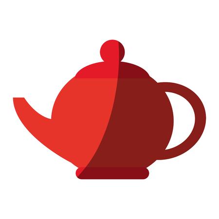 teapot kitchen utensil icon vector illustration graphic design