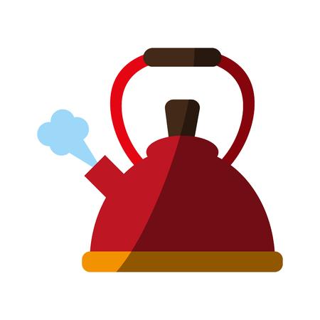 Teiera cucina utensile icona illustrazione vettoriale illustrazione grafica Vettoriali
