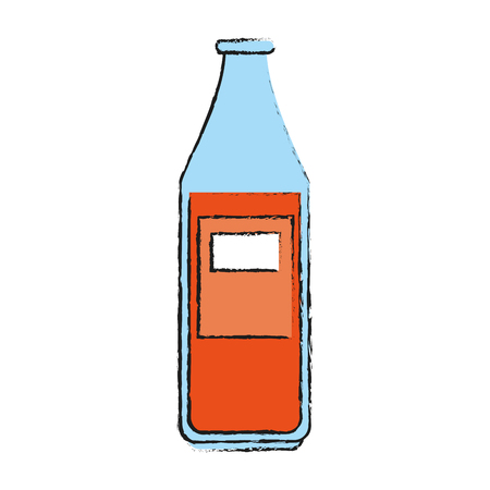 bottle of soda icon vector illustration graphic design