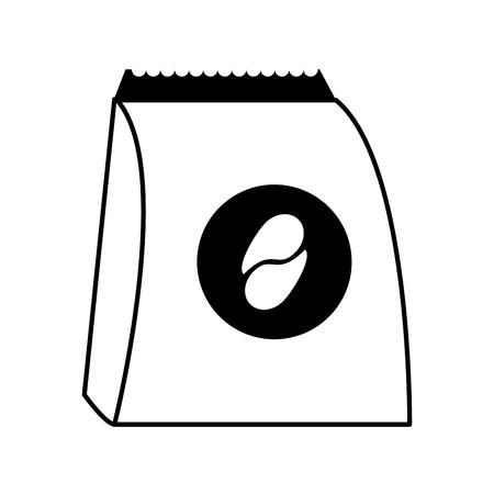 diseño gráfico del ejemplo del vector de la historieta de la bebida del café