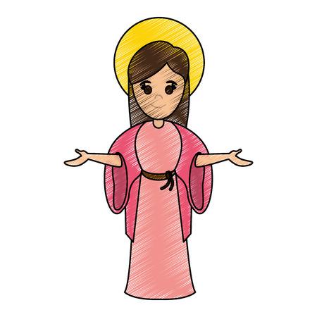 heilig heilig maagdelijk grafisch de illustratieontwerp van het marypictogram