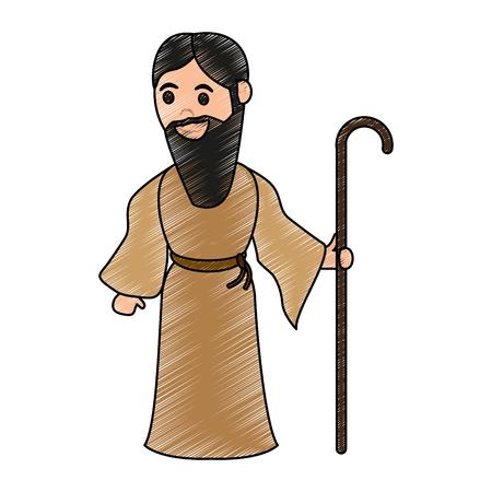 Saint Joseph Cartoon Vector illustratie grafisch ontwerp