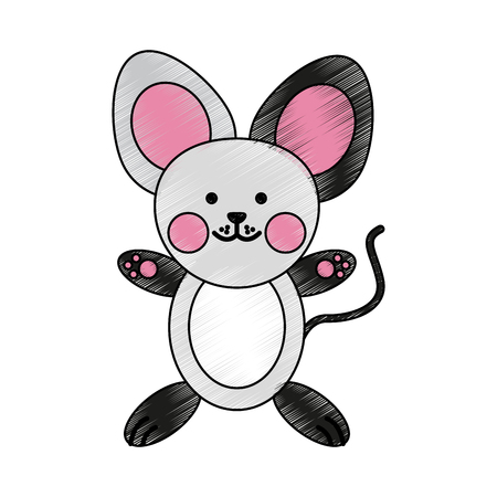 humor: A cute animal cartoon vector illustration graphic design.