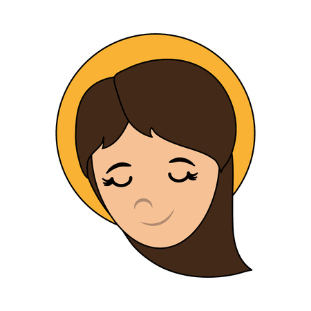 gezegend heilig maagd mary pictogram vector illustratie grafisch ontwerp Stock Illustratie