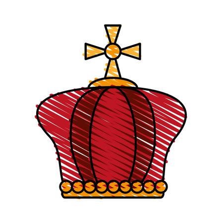 crown pope catholic emblem icon vector illustration graphic design Illustration