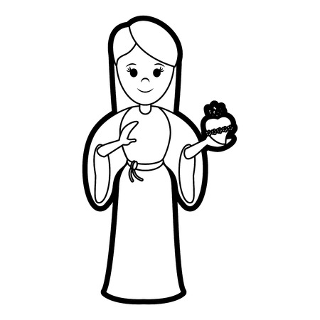 black maria: blessed holy virgin mary icon vector illustration graphic design Illustration