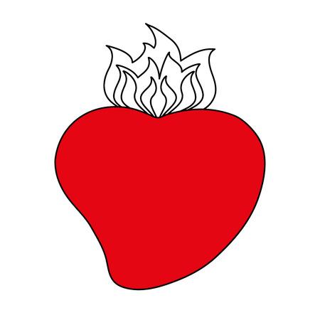 Heilige haard van jesus pictogram vector illustratie grafisch ontwerp