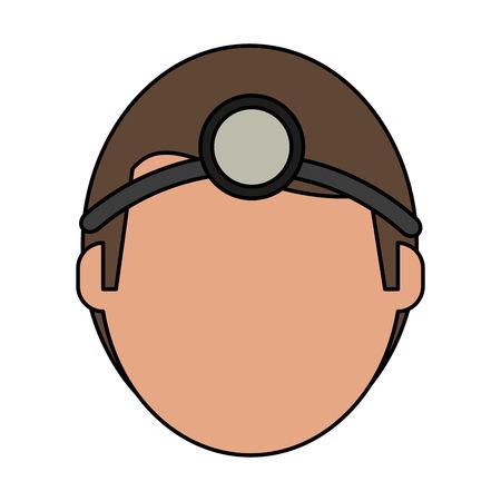 Medical professional face flat vector illustration design graphic
