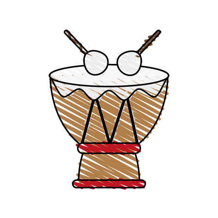 Drum musical instrument doodle  vector illustration design graphic