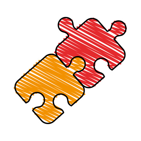 Puzzle tab game doodle  vector illustration design graphic Illustration