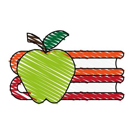 Reading book separator doodle vector illustration design graphic
