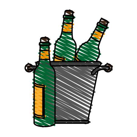 Delicious wine celebration doodle vector illustration design graphic Illustration