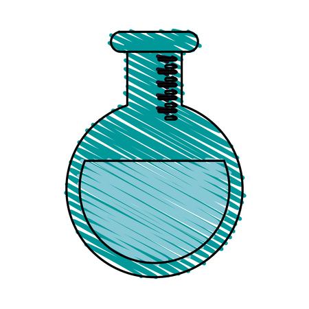 Colorful flask doodle over white background vector illustration Ilustracja