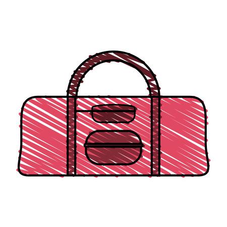 Colorful bag doodle over white background vector illustration