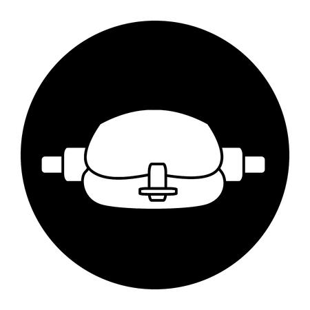 Taille sport tas accessoire teken vector illustratie