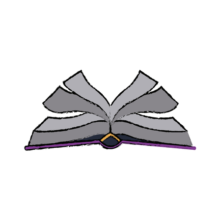 open book with pages cover education vector illustration