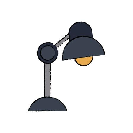 desk lamp electric bulb light element vector illustration Illustration