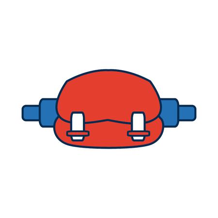 Waist sport bag accessory sign vector illustration Illustration