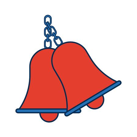Retro school bell handle clapper classic vector illustration