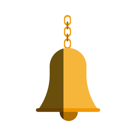 festive occasions: school bell with chain hanging traditional vector illustration Illustration