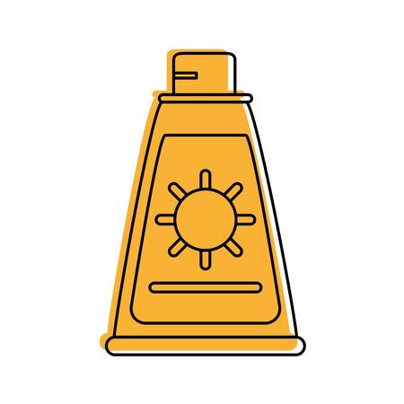 sun block: sunscreen or sunblock icon image vector illustration design
