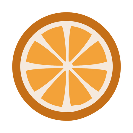 fresh ripe slice of orange Healthy food