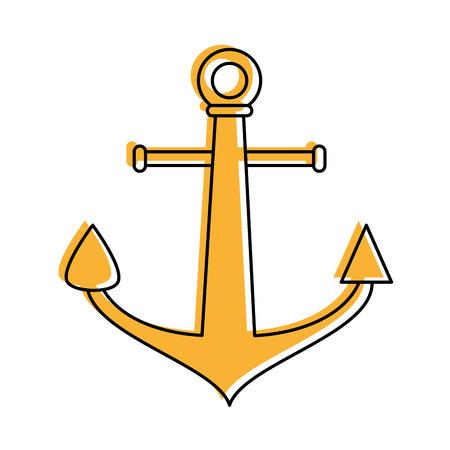 ship anchor: anchor navy icon image vector illustration design Illustration