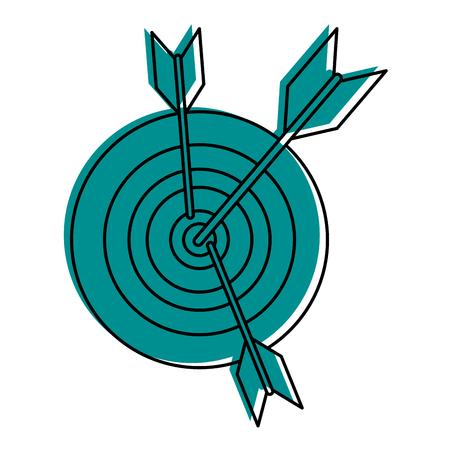 bullseye or dartboard icon image vector illustration design