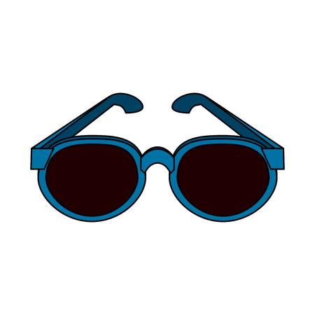 blue frame sunglasses icon image vector illustration design Illustration