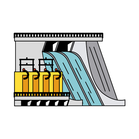 hydroelectric plant icon image vector illustration design