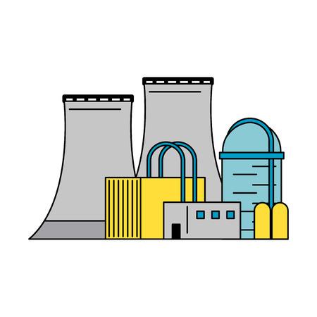 원자력 발전소 아이콘 이미지 벡터 일러스트 디자인