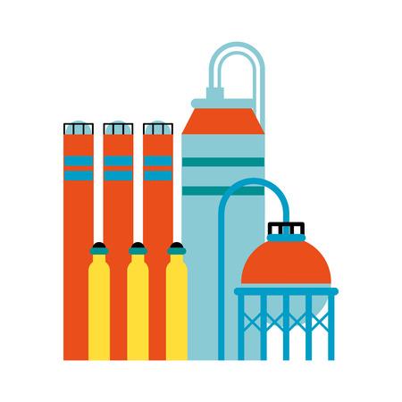 oil refinery icon image vector illustration design