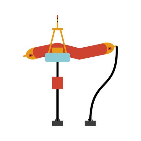 thermal power plant: sea wave renewable energy source icon image vector illustration design