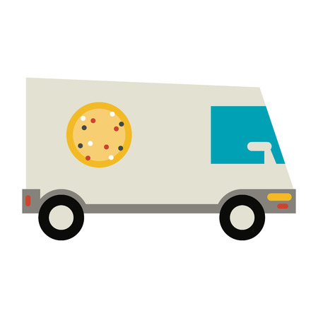 pizza delivery truck icon image vector illustration design Illustration