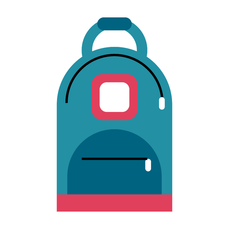 backpack school supply icon image vector illustration design