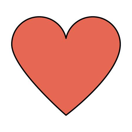 heart cartoon icon image vector illustration design Illustration