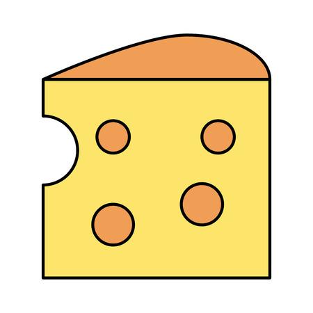 cheese piece icon image vector illustration design