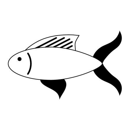 fish food icon image vector illustration design Ilustração