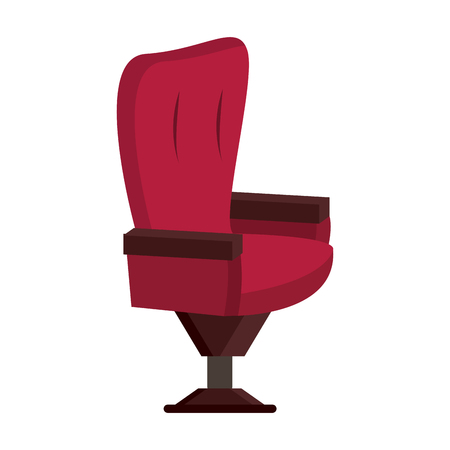 padded: padded chair icon image vector illustration design