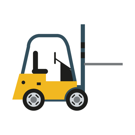 forklift machinery icon image vector illustration design Illustration