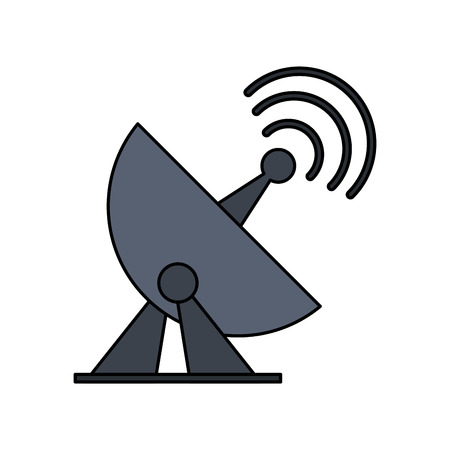 satellite dish telecommunication icon image vector illustration design
