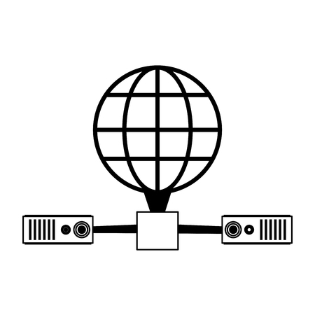 earth globe diagram global communications icon image vector illustration design Vectores
