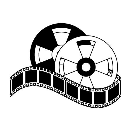 tape haspels pictogram afbeelding vector illustratie ontwerp Stock Illustratie